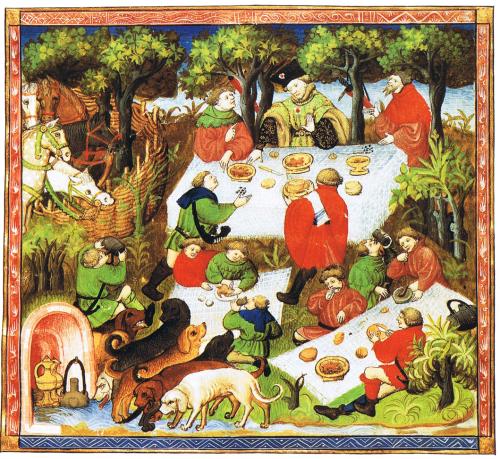 noblemen enjoying a picnic